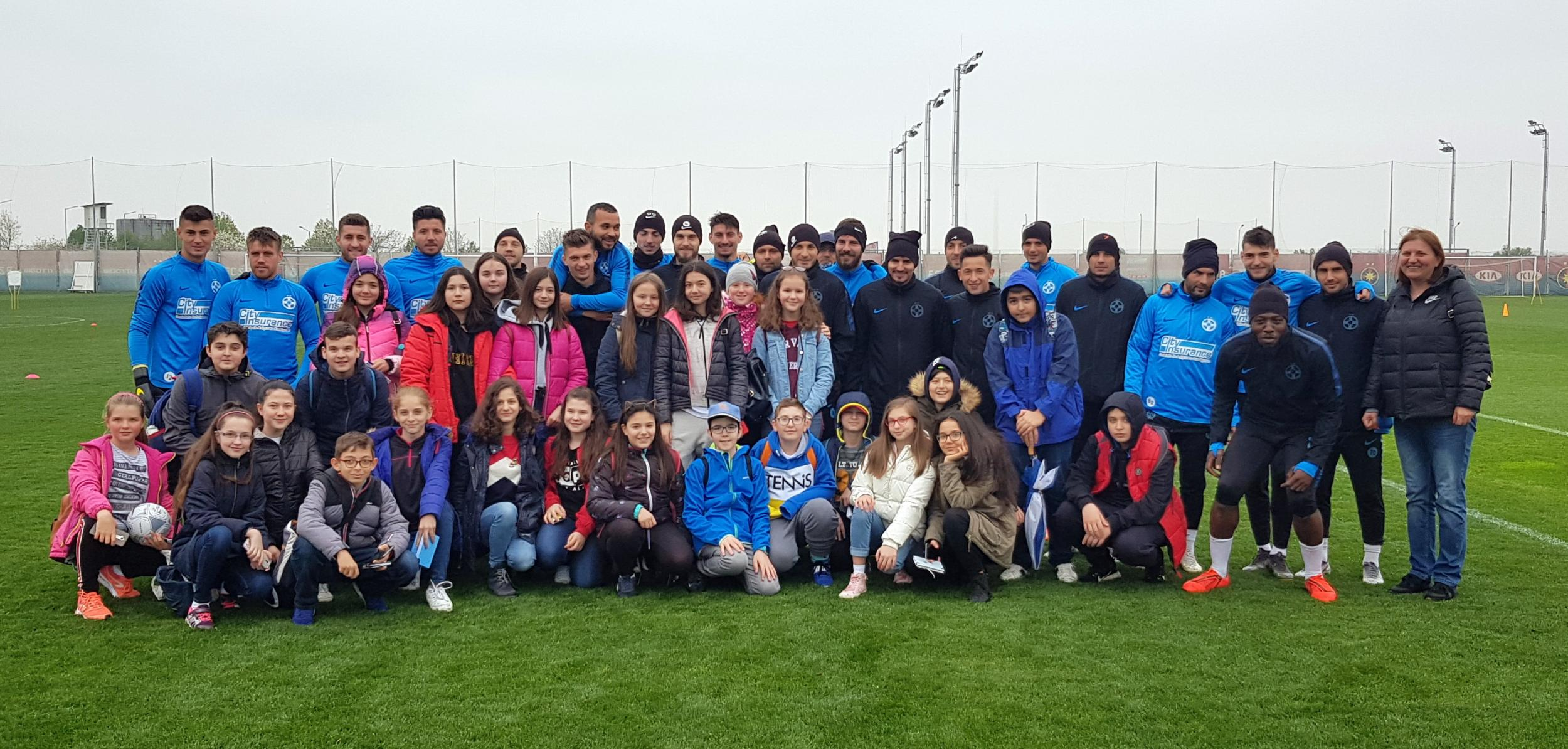 Teenagers visiting FCSB Training Centre!