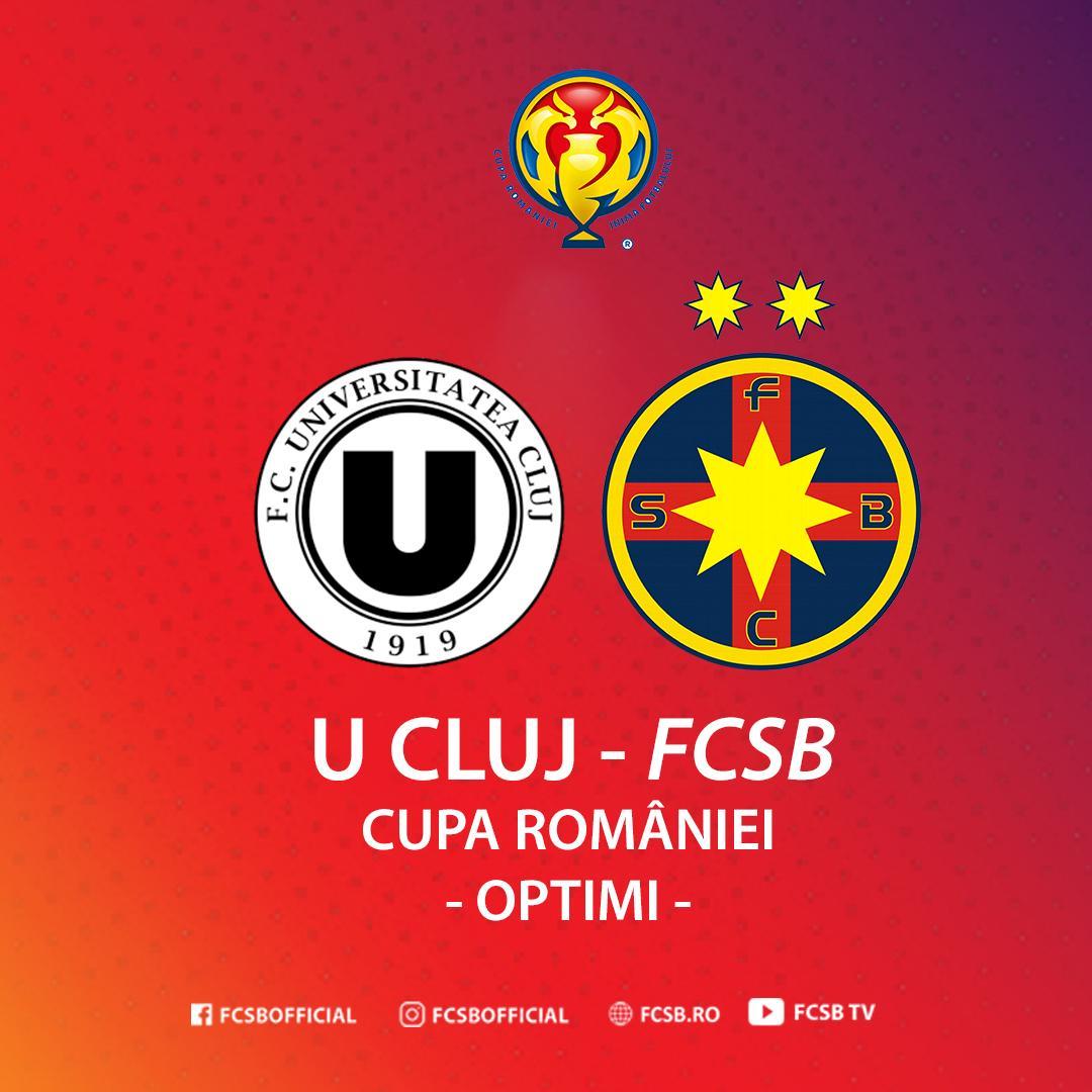 U Cluj - FCSB în optimile Cupei!>