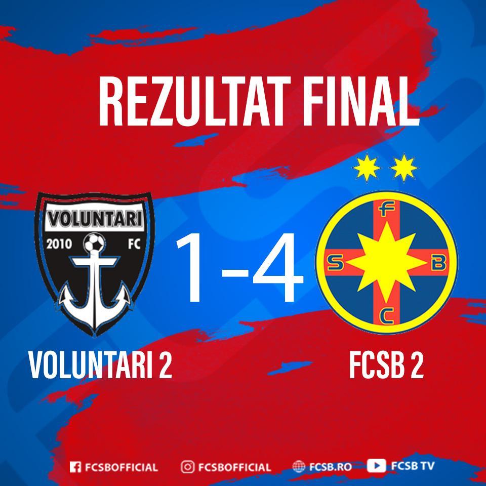 Victorii pe linie pentru FCSB 2!>