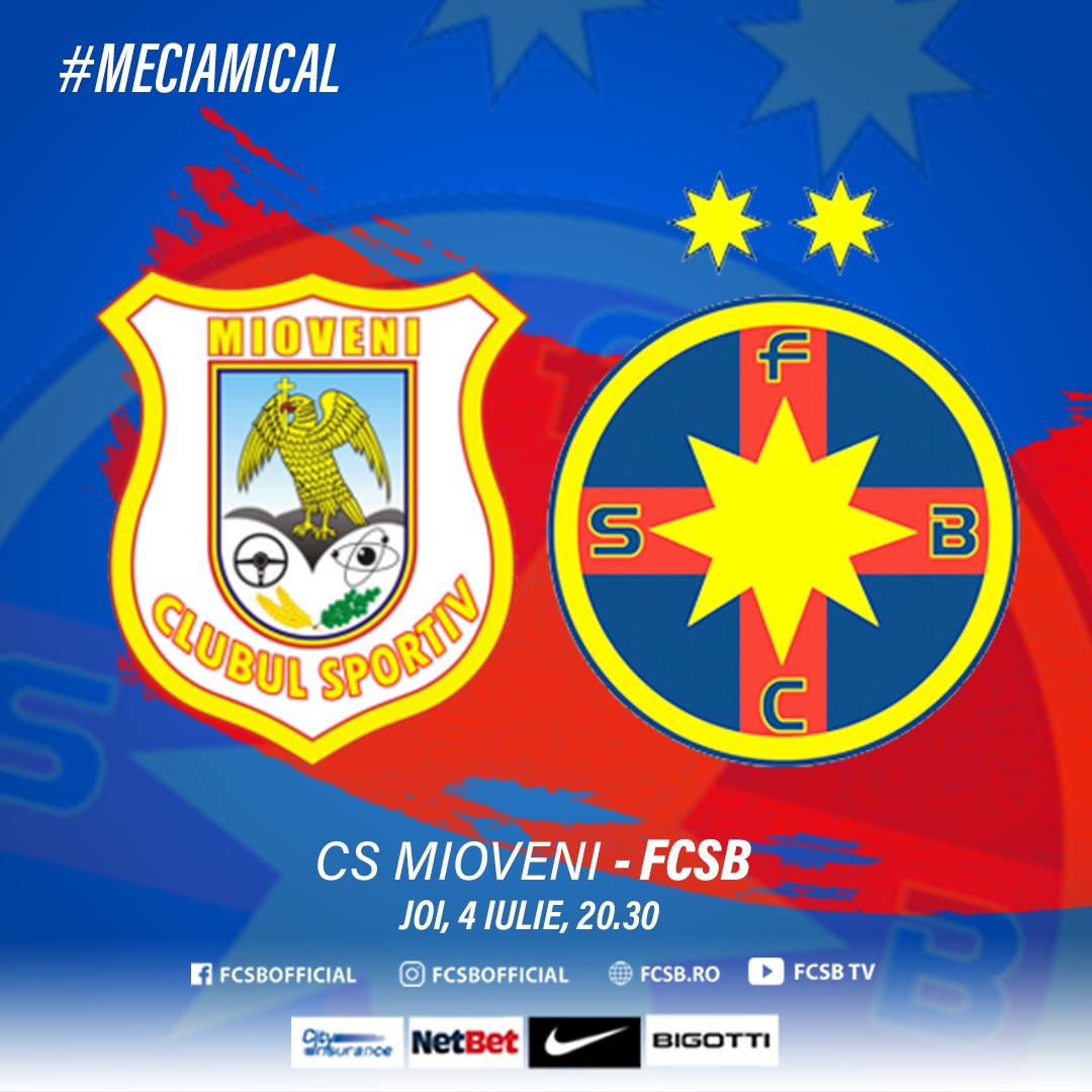 CS Mioveni - FCSB, Thursday at 20:30!>