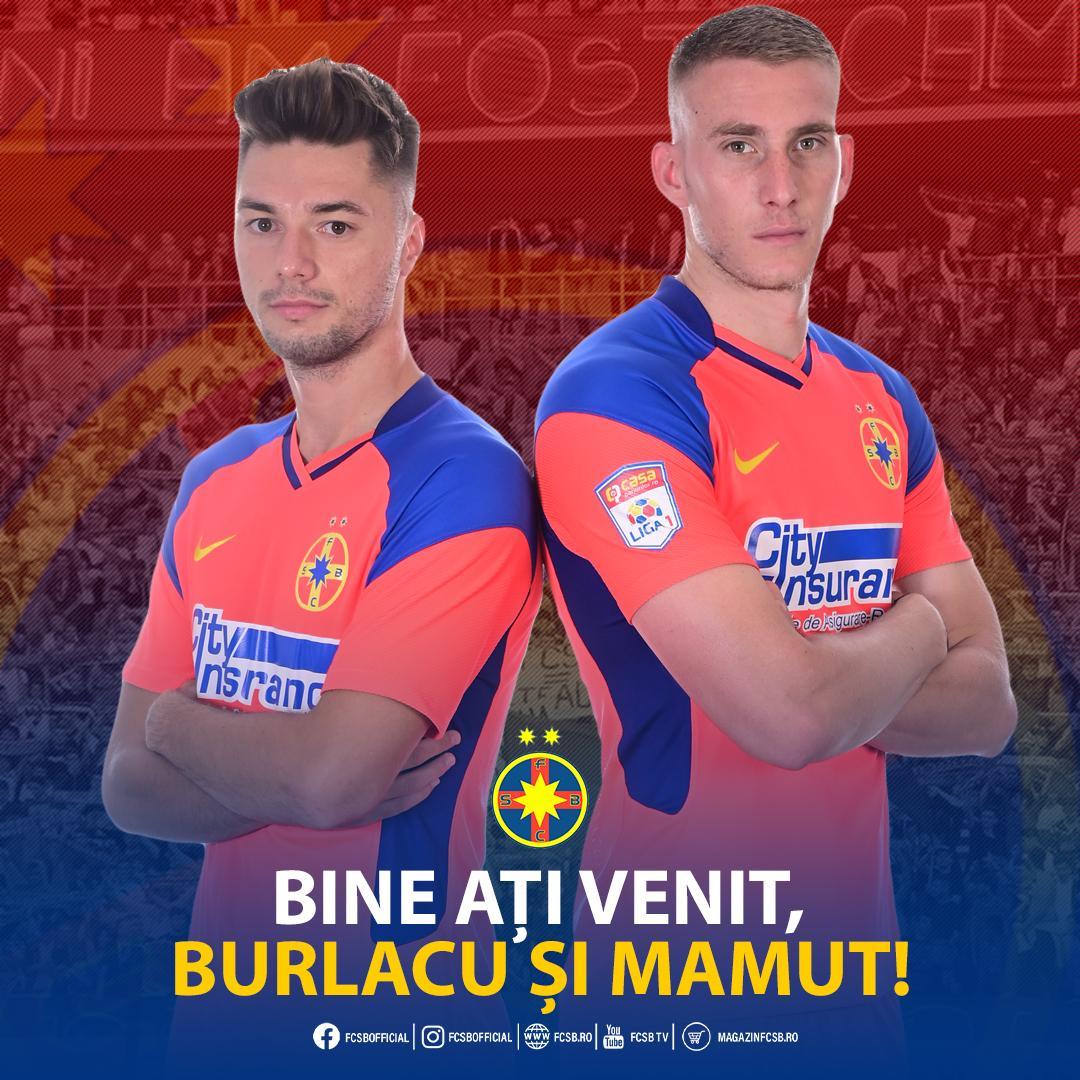 Burlacu și Mamut, la FCSB!