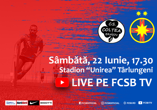 CS Colțea - FCSB, on Saturday!>