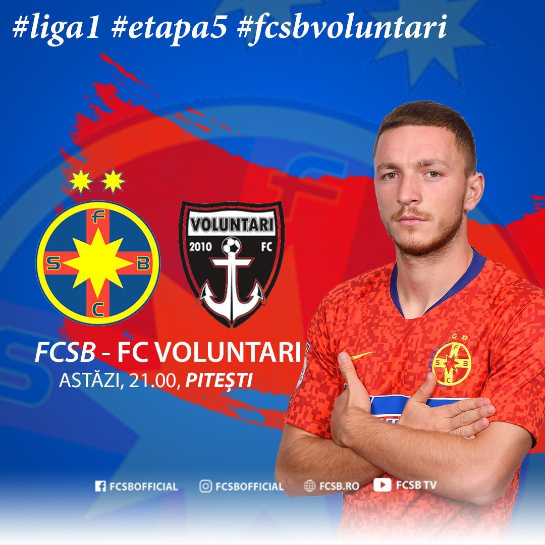 Avancronică FCSB - FC Voluntari!>
