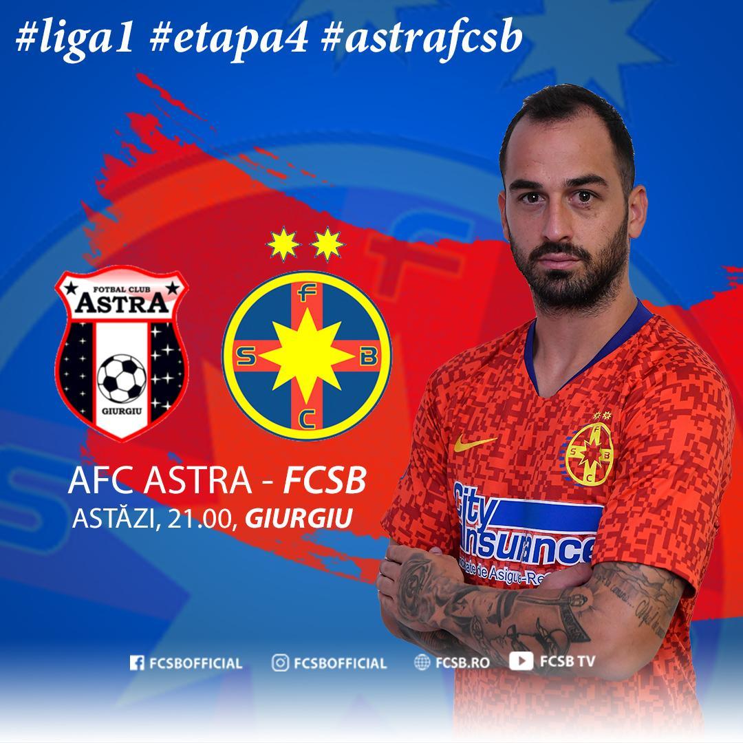 Avancronică AFC Astra - FCSB!>