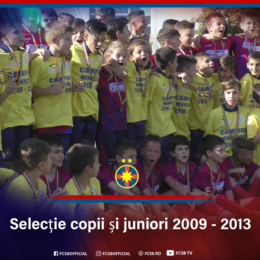 Selecție la grupele 2009-2013!>
