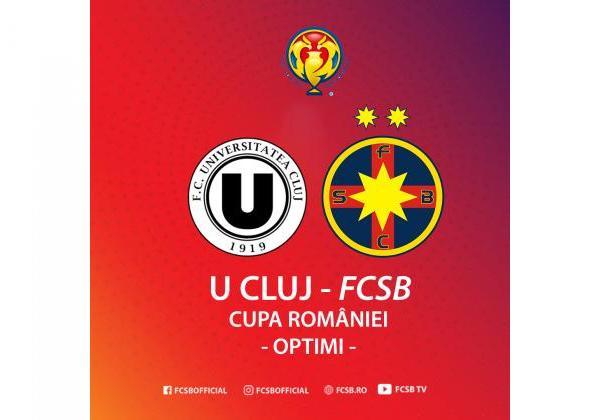 U Cluj - FCSB în optimile Cupei!