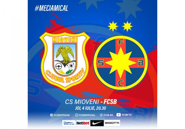 CS Mioveni - FCSB, joi la 20:30!