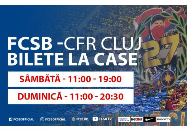 Tickets for FCSB-CFR, on sale starting Saturday!