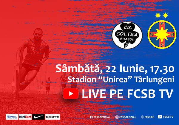 CS Colțea - FCSB, sâmbătă la Târlungeni!