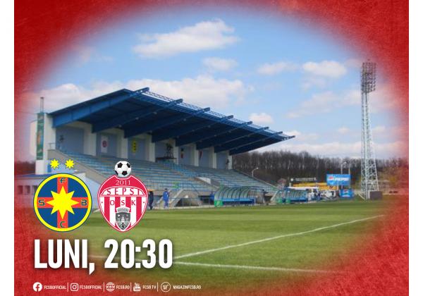 FCSB - Sepsi OSK, la Mogoșoaia!