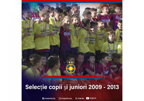 Selecție la grupele 2009-2013!