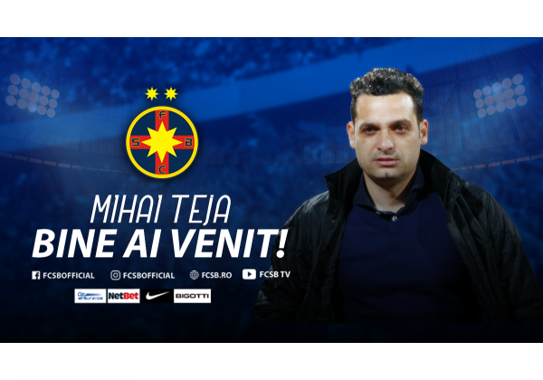 Mihai Teja, the new Head Coach of FCSB!