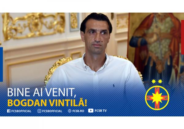 Bogdan Vintilă, new coach of FCSB!