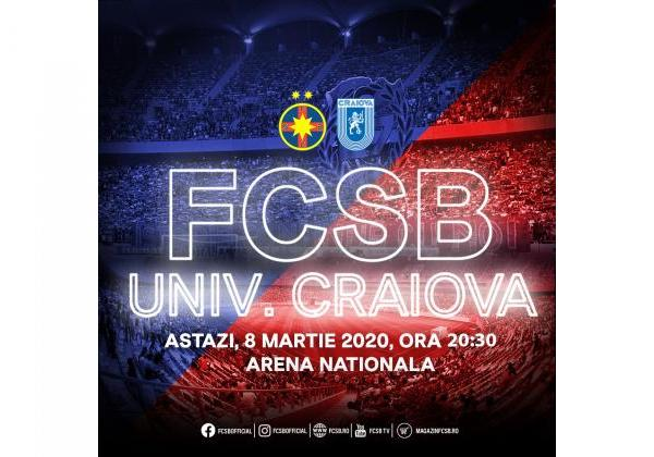 FCSB - Universitatea Craiova, fără spectatori!