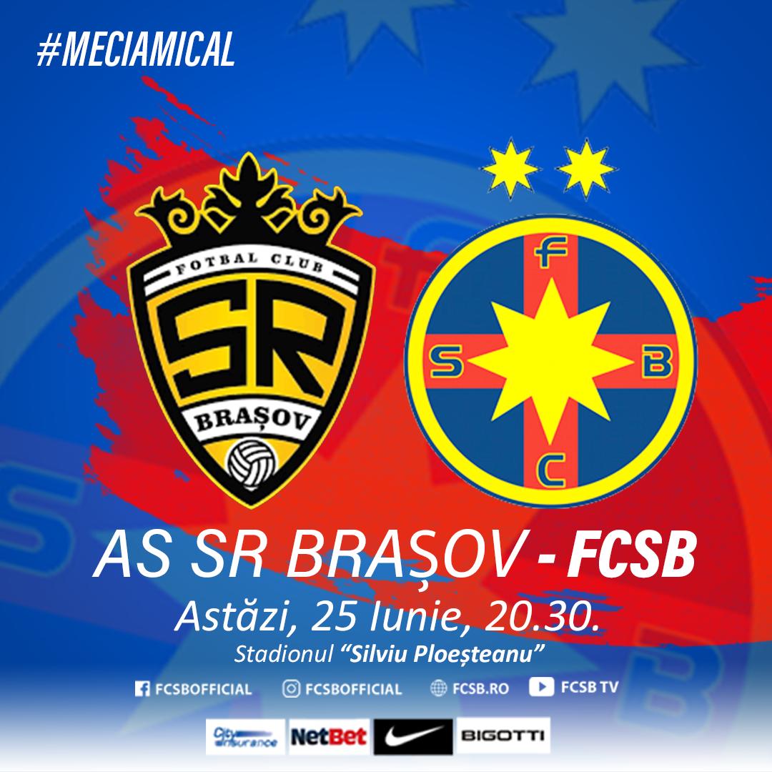 AS SR Brașov - FCSB, de la 20:30!>
