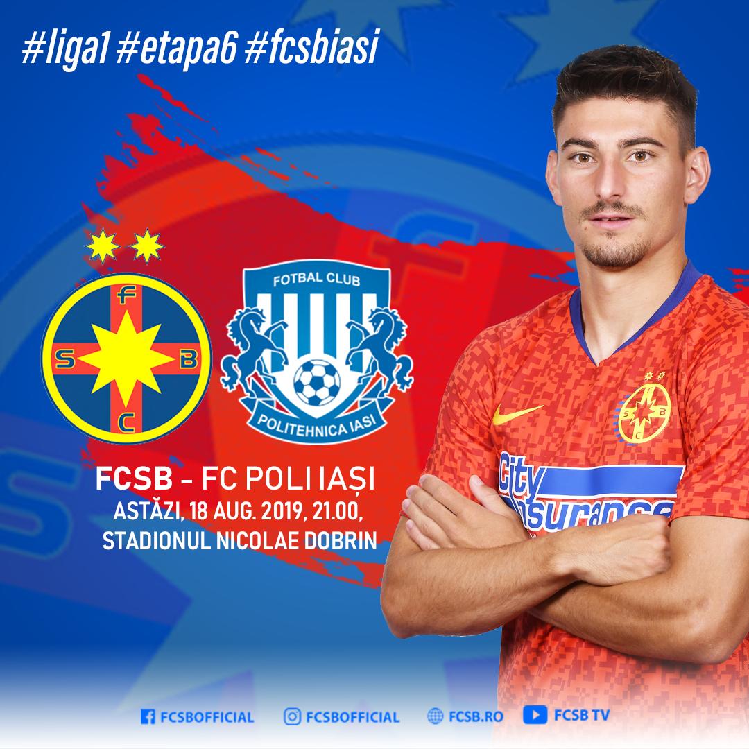 Avancronică FCSB - FC Poli Iași!>